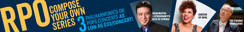 Compose your own series! 3 Philarmonics concerts for as low as $33 per concert!